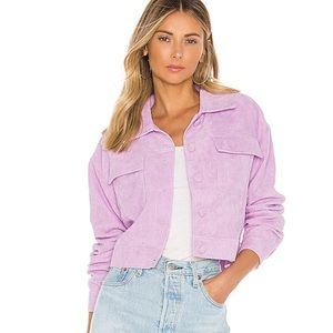 Revolve lovers + friends lilac jacket Small S Cord